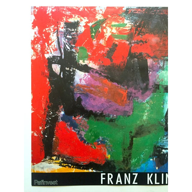 """This Franz Kline rare vintage 1987 lithograph print Abstract Expressionist """" Pafinvest Studio Marconi """" Italian exhibition..."""