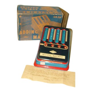 Vintage 1940's Wolverine Tin Toy Adding Machine