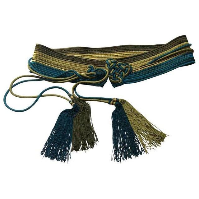 Vintage Yves Saint Laurent Russian Collection Passementerie Tassel Belt Ysl For Sale - Image 12 of 12