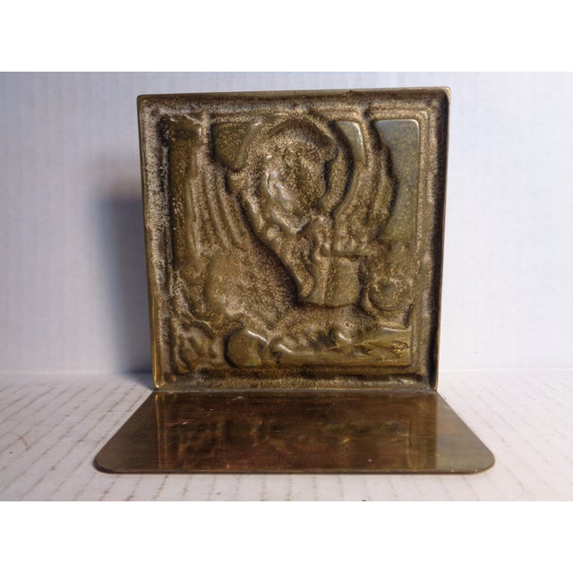 Solid Brass Venetian Bookends - Pair - Image 4 of 5