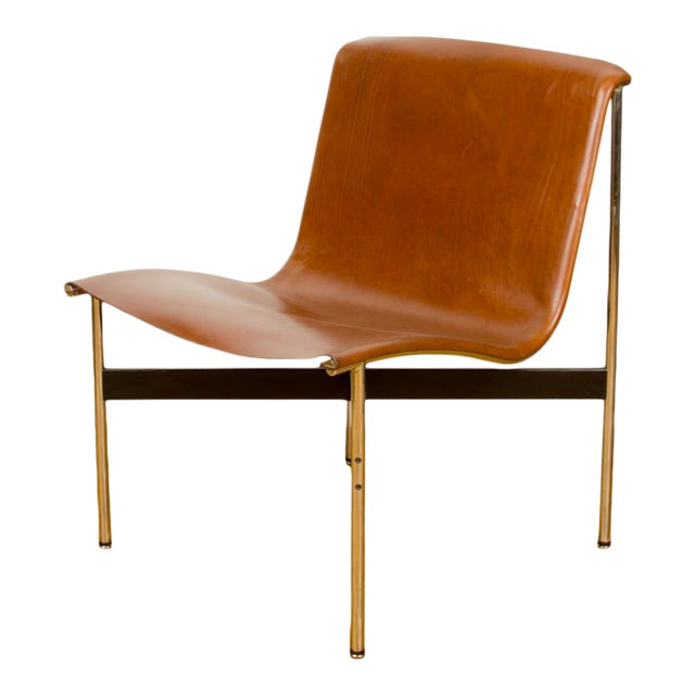 Mid Century Katavolos Littell and Kelley Designed Leather Tan Chair For Sale