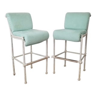 Diego Giacometti Style Hollywood Regency Bar Stools - a Pair For Sale