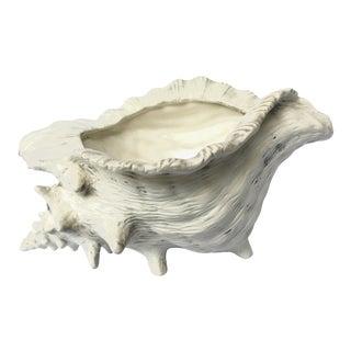 1950s Hollywood Regency Ceramic Shell Planter