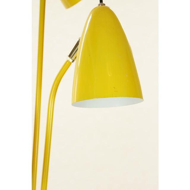 Vintage Mid-Century Yellow Enameled Bullet Shade Floor Lamp, 1950s ...