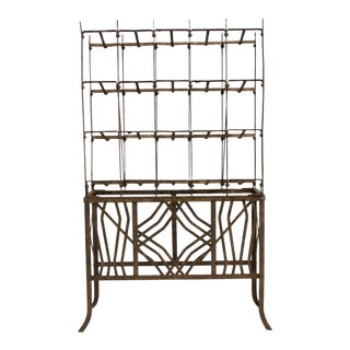 Art Deco Metal Wine Rack For Sale