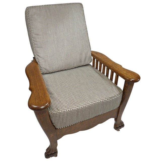 1900s Arts & Crafts Oak Morris Chair - Image 1 of 11