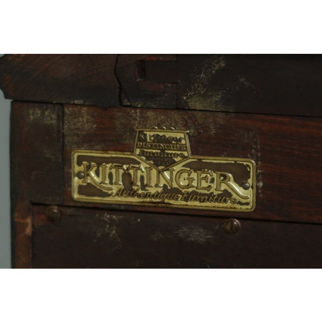 Kittinger Vintage 1940s Era Inlaid Mahogany Breakfront For Sale - Image 12 of 13