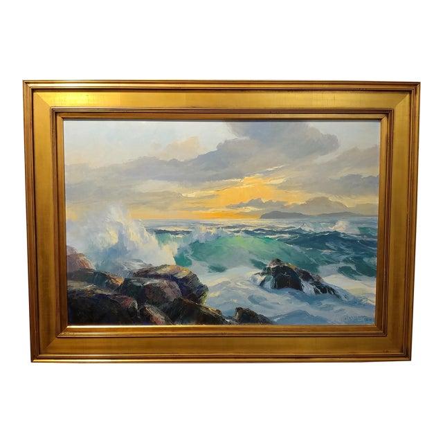 Bennett Bradbury California Seascape Oil Painting on Canvas For Sale