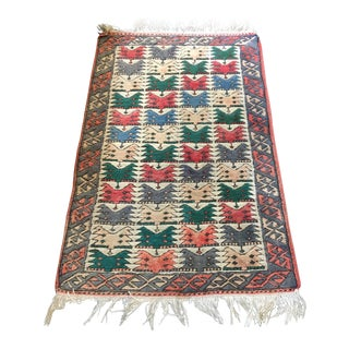 Antique Hand Knotted and Hand Dyed Turkish Rug