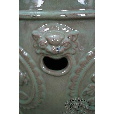 Vintage Chinese Celadon Garden Seat For Sale In Philadelphia - Image 6 of 13