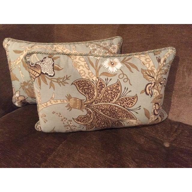 Custom Schumacher Throw Pillows - A Pair - Image 5 of 6