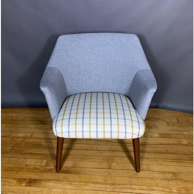 Mid-Century Modern Danish 1960 Armchair, New Mood Nyc Upholstery For Sale - Image 3 of 9