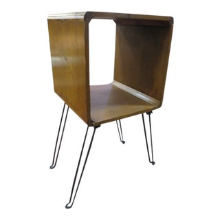 Vintage Mid Century Modern Hairpin Leg Table For Sale