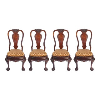 19th Century Queen Anne-style Chairs- Set of 4 For Sale