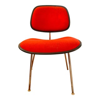 Mid-Century Eames for Herman Miller Dcm Red Side Chair For Sale