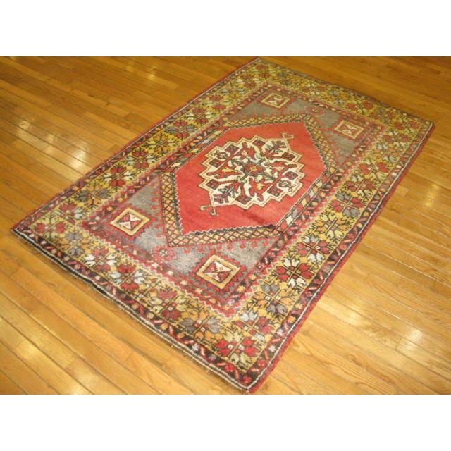 Vintage Handmade Oriental Rug - 3′6″ × 5′7″ For Sale - Image 7 of 7
