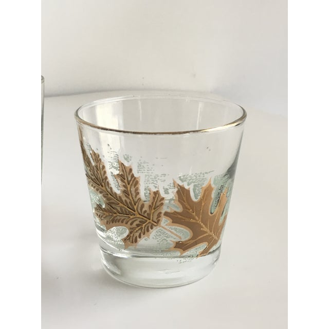 Glass Culver Ltd. Gold Leaf Low Ball Glasses - Set of 4 For Sale - Image 7 of 7