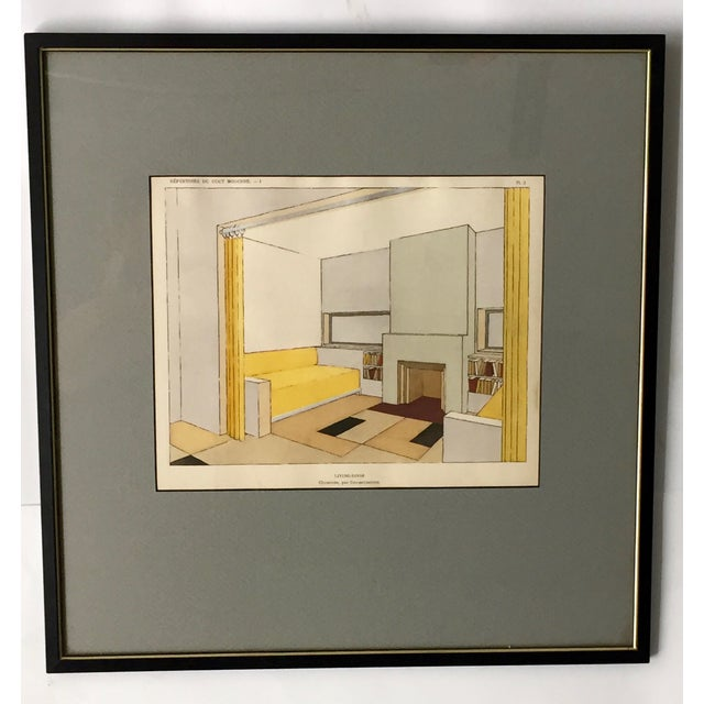 French Mid-Century Living Room Design Lithograph - Image 2 of 4