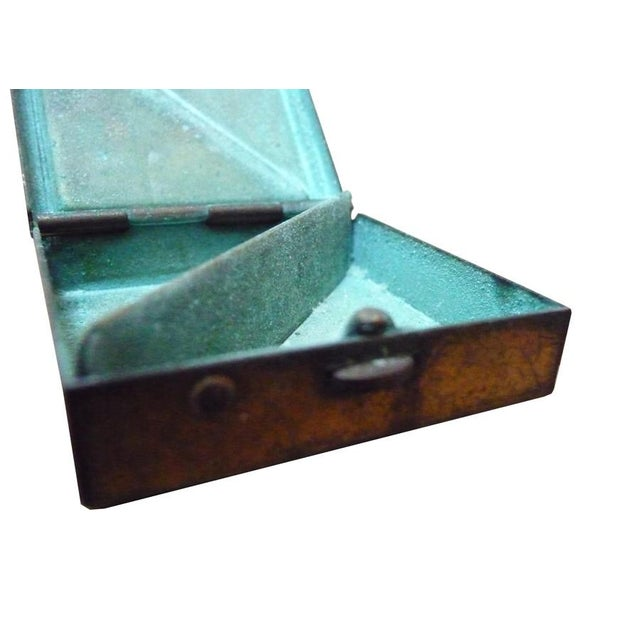 Vintage Brass & Mother of Pearl Pill Box - Image 4 of 4