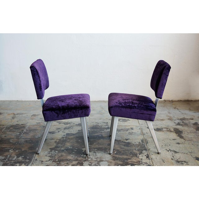 General Fireproofing Co. Purple Chairs - A Pair - Image 3 of 6