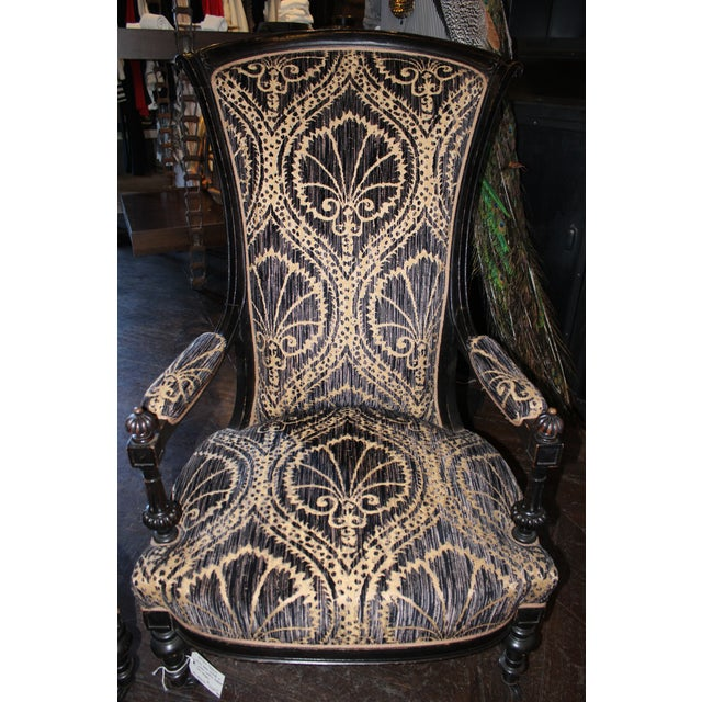 Pair of Victorian French Slipper Chairs For Sale - Image 4 of 9
