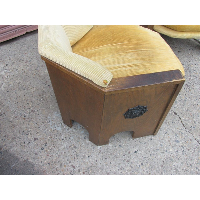 Brutalist Adrian Pearsall for Mastercraft Pair of Chairs For Sale - Image 3 of 9