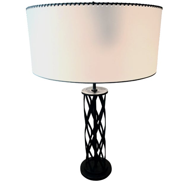 1970s Cast Iron Lattice Lamps - A Pair - Image 2 of 4
