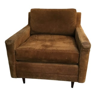 Milo Baughman Club Directional Chair Leather 1 of a Pair For Sale