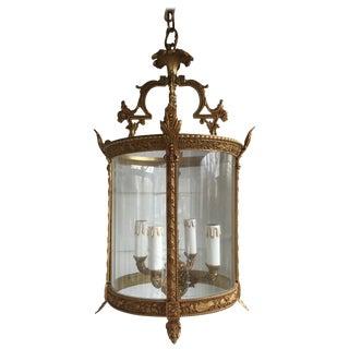 Beautiful Gilt Brass Vintage Lantern For Sale