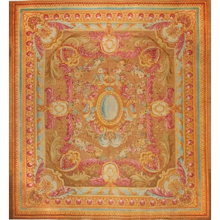 Antique 18th Century French Savonnerie Carpet For Sale