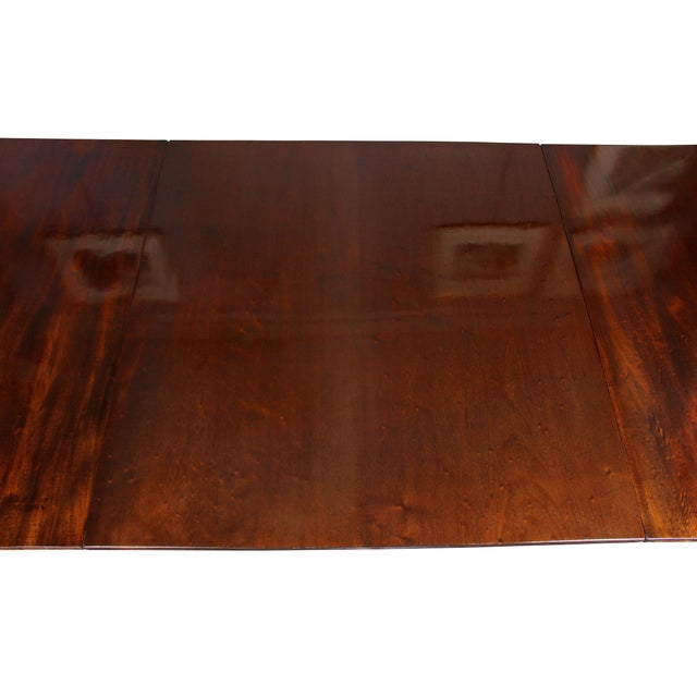 Wood Regency Mahogany Three Pedestal Dining Table For Sale - Image 7 of 13