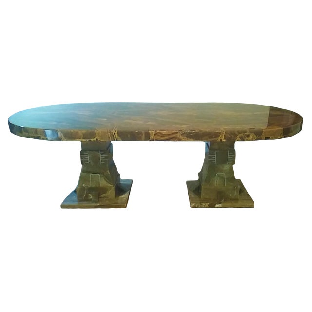 Mid Century Muller of Mexico Onyx Dining Table For Sale