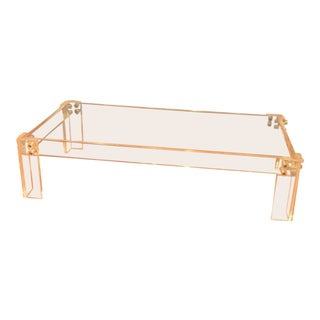 Enormous Lucite Cocktail Table For Sale
