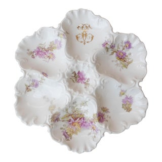 1920s Limoges France Porcelain Oyster Plate For Sale