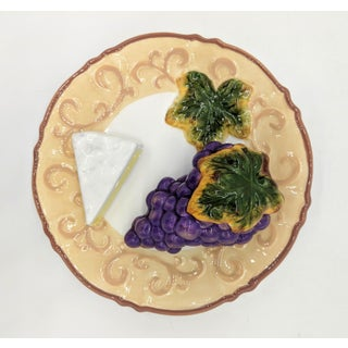 Trompe l'Oeil Grapes and Cheese Fruit Plate Preview