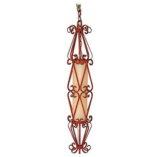 Mid-Century Wrought Iron Pendant Light For Sale