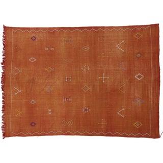 Moroccan Cactus Silk Kilim - 7′7″ × 10′7″