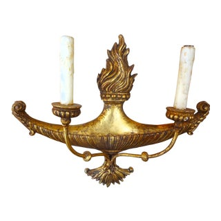 Italian 19th Century Gilt Wood Sconces, Pair For Sale