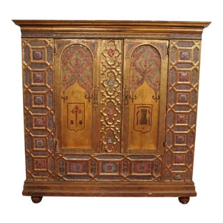Italian Polychrome Two Door Cabinet