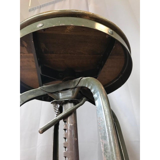 Toledo Industrial Adjustable Height Backless Swivel Stools, Three Available For Sale - Image 9 of 13