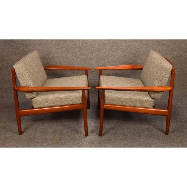 1960s Scandinavian Modern Arne Vodder Teak Lounge Chairs - a Pair For Sale In San Diego - Image 6 of 11