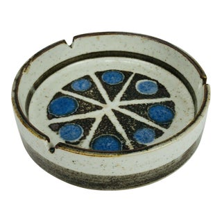 Mid Century Ceramic Ashtray Pottery Vintage Atomic Retro Abstract Starburst For Sale