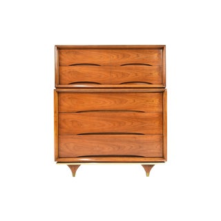 Mid Century Highboy Chest by Kent Coffey For Sale