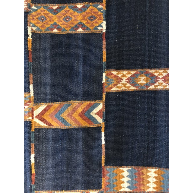Mid 20th Century Vintage Jordanian Flatweave Rug For Sale - Image 5 of 7