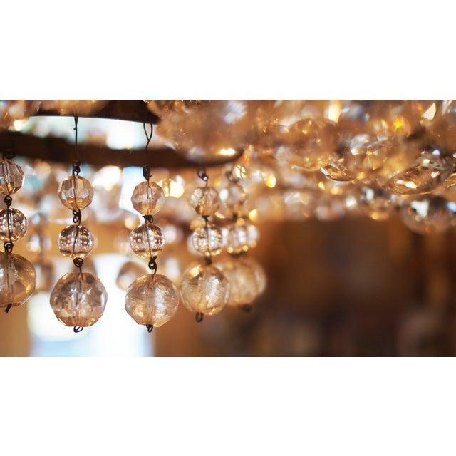 Transparent Italian Basket Form Eight Light Crystal Chandelier For Sale - Image 8 of 9