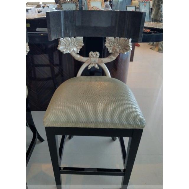 Silver Contemporary J Robert Scott Cornucopia Barstools - Set of 4 For Sale - Image 8 of 10