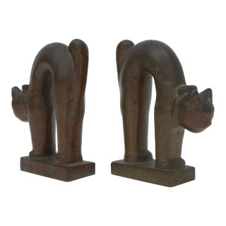 Pair of Bronze Art Deco Bookends For Sale