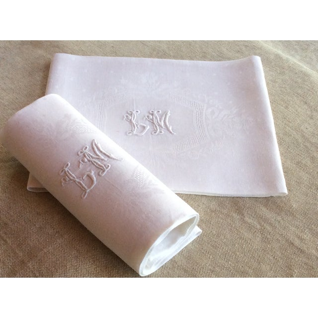 Late 19th Century Antique French Linen Napkins - A Pair For Sale - Image 10 of 10
