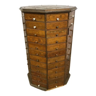 19th Century Rustic Octagonal Wooden Display Cabinet For Sale