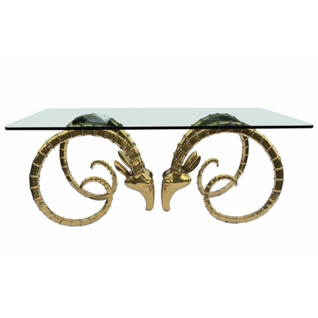1970s 1970s Hollywood Regency Alain Chervet Great Ibex Dining Table For Sale - Image 5 of 5